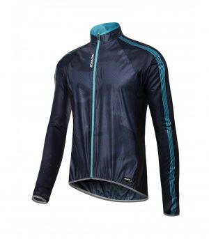 Santini Fine Windbreaker Navy Blue